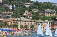 Portofino variopinto Immagini Stock Libere da Diritti