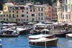 Portofino variopinto, Italia Fotografia Stock