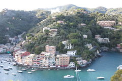 Portofino view. From opposite hll stock images
