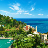 Portofino village on Ligurian coast, Italy Royalty Free Stock Photos
