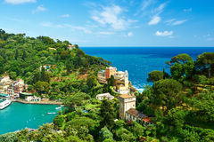 Portofino village on Ligurian coast, Italy Royalty Free Stock Photography