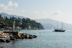 Portofino village on Ligurian coast in Italy Royalty Free Stock Photography