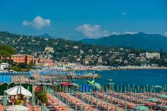 Portofino village on Ligurian coast in Italy Royalty Free Stock Photo