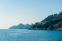Portofino village on Ligurian coast in Italy Royalty Free Stock Images