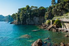 Portofino village on Ligurian coast in Italy Stock Image