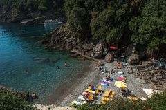 Portofino village on Ligurian coast in Italy Royalty Free Stock Image