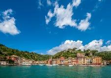 Portofino village on Ligurian coast, Italy. Portofino village on Ligurian coast in Italy Stock Photography