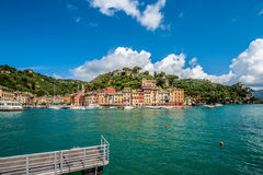 Portofino village on Ligurian coast, Italy. Portofino village on Ligurian coast in Italy Royalty Free Stock Images