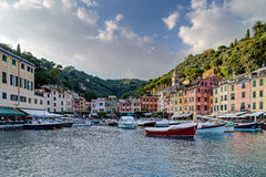 Portofino village on the Ligurian Coast, Italy Stock Images