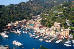 Portofino. Village of Portofino seen from Castello Brown, Liguria, Italy Royalty Free Stock Image
