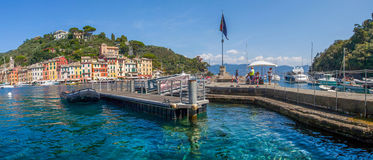 Portofino, Włochy - Promu Jetty Zdjęcia Royalty Free