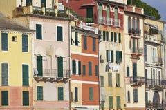 Portofino's houses detail. Color image Stock Photography