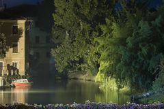 Portogruaro river Royalty Free Stock Photo