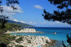 Portokali plaża w południe Grecja oh Obraz Stock