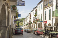 Portomarin cityscape, Road to Santiago de Compostela, Castilla y Leon Stock Images