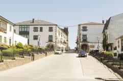 Portomarin cityscape, Road to Santiago de Compostela, Castilla y Leon Stock Photos