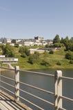 Portomarin cityscape, Road to Santiago de Compostela, Castilla y Leon Royalty Free Stock Photos