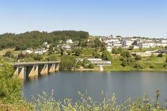 Portomarin cityscape, Road to Santiago de Compostela, Castilla y Leon Royalty Free Stock Images