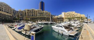 Portomaso-Jachthafen, St. julianisch, Malta Stockbilder