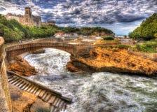 Portområde av Biarritz - Frankrike Fotografering för Bildbyråer