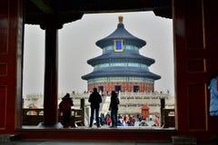 Portone al Corridoio della preghiera per i buoni raccolti Il tempio del cielo Pechino La Cina Fotografia Stock