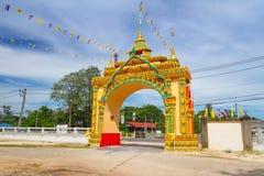 Portone al del tempio di buddismo Fotografia Stock