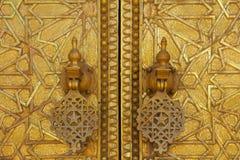 Portone al palazzo del re del Marocco Fotografie Stock Libere da Diritti