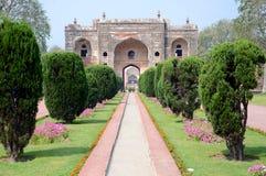 Portone alla tomba del Jehangir fotografia stock libera da diritti