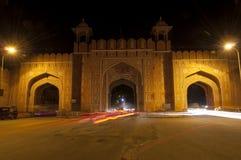 Portone ambrato della città a Jaipur, India Fotografie Stock