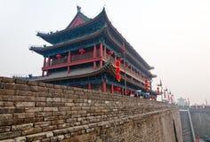 Portone antico della parete in Xian China fotografia stock libera da diritti