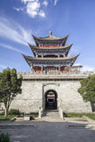 Portone antico di Dali in vecchia città, il Yunnan, Cina Fotografie Stock