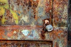 Portone arrugginito Fotografia Stock