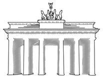 Portone Berlino, schizzo di Brandenburger di vettore Fotografia Stock Libera da Diritti