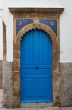Portone blu con le lune, Marocco Immagine Stock Libera da Diritti