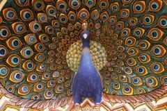 Portone a Chandra Mahal, palazzo del pavone della città di Jaipur Fotografia Stock Libera da Diritti