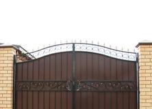 Portone chiuso della casa, proprietà privata Immagini Stock Libere da Diritti