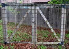 Portone chiuso di griglia Fotografia Stock