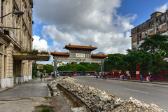 Portone cinese - Avana, Cuba Fotografia Stock Libera da Diritti
