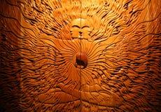 Portone con arte figurale spirituale Fotografia Stock Libera da Diritti