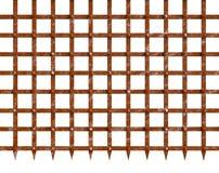 Portone d'arrugginimento del ferro con il fondo appuntito Immagine Stock Libera da Diritti
