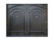 Portone decorativo del metallo dall'ornamento Fotografie Stock