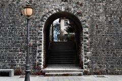Portone del castello Immagini Stock