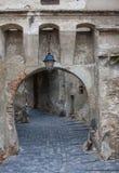 Portone del castello Immagine Stock
