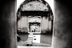 Portone del castello dell'acqua Fotografia Stock