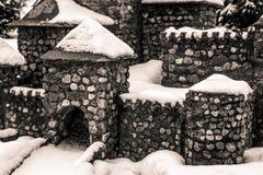 Portone del castello di pietra Immagini Stock Libere da Diritti