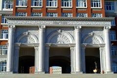 Portone del corridoio della costruzione dell'istituto universitario della città universitaria Immagine Stock Libera da Diritti
