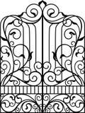 Portone del ferro battuto, porta Fotografie Stock