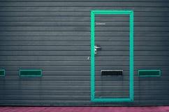 Portone del garage come fondo Immagini Stock Libere da Diritti