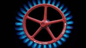 Portone del gas ed a gas Fotografia Stock Libera da Diritti