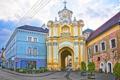 Portone del monastero di Basilian in Città Vecchia di Vilnius in Lituania Fotografia Stock